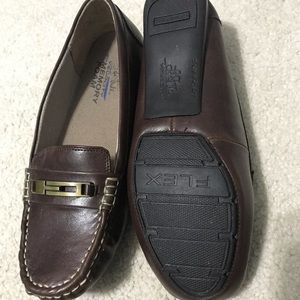 Life Stride Shoes - Brown slip on dress shoes
